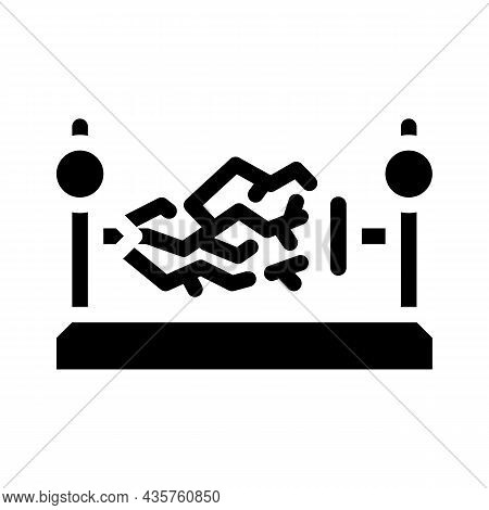Electromagnetic Device Glyph Icon Vector. Electromagnetic Device Sign. Isolated Contour Symbol Black