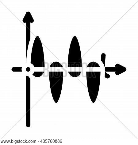 Graph Of Electromagnetic Waves Glyph Icon Vector. Graph Of Electromagnetic Waves Sign. Isolated Cont