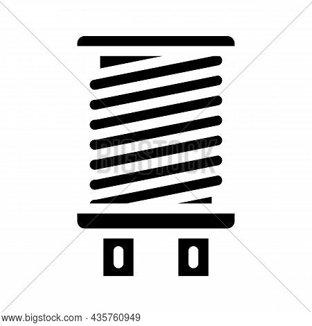 Coil Electromagnetic Glyph Icon Vector. Coil Electromagnetic Sign. Isolated Contour Symbol Black Ill