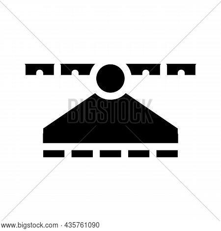 Spectrum Range Electromagnetic Glyph Icon Vector. Spectrum Range Electromagnetic Sign. Isolated Cont