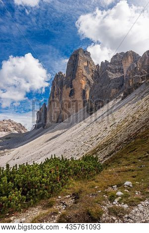 Drei Zinnen Or Tre Cime Di Lavaredo (three Peaks Of Lavaredo), North Face, And Monte Paterno Or Pate