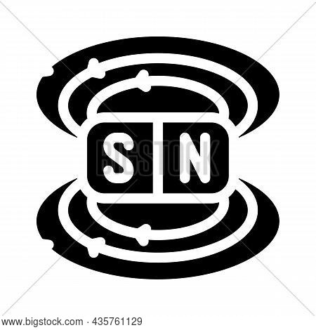 Field Electromagnetic Glyph Icon Vector. Field Electromagnetic Sign. Isolated Contour Symbol Black I