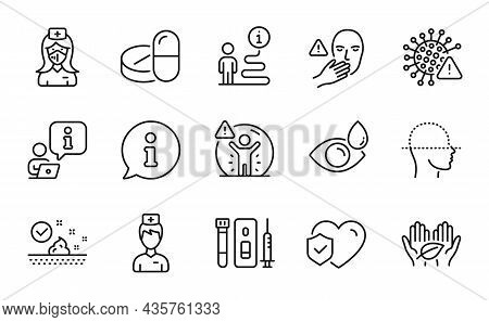 Healthcare Icons Set. Included Icon As Nurse, Face Scanning, Doctor Signs. Fair Trade, Life Insuranc