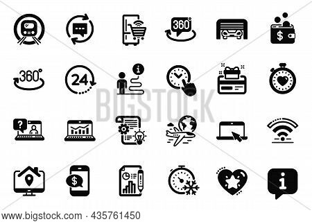 Vector Set Of Technology Icons Related To Time Management, Faq And Freezing Timer Icons. Parking Gar