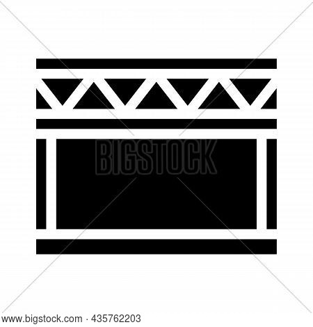 Stage Metal Frame Glyph Icon Vector. Stage Metal Frame Sign. Isolated Contour Symbol Black Illustrat