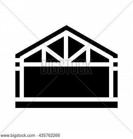 Garage Metal Frame Glyph Icon Vector. Garage Metal Frame Sign. Isolated Contour Symbol Black Illustr