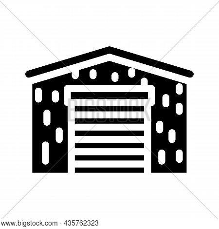 Barn Metal Frame Glyph Icon Vector. Barn Metal Frame Sign. Isolated Contour Symbol Black Illustratio