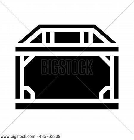 House Metallic Frame Construction Glyph Icon Vector. House Metallic Frame Construction Sign. Isolate