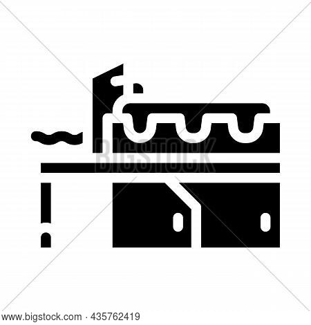 Metal Production Industry Equipment Glyph Icon Vector. Metal Production Industry Equipment Sign. Iso