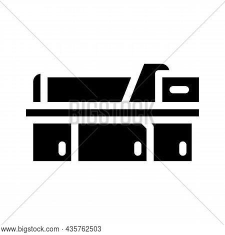 Metal Material Part Production Factory Machine Glyph Icon Vector. Metal Material Part Production Fac