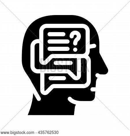 Discussion In Head Glyph Icon Vector. Discussion In Head Sign. Isolated Contour Symbol Black Illustr