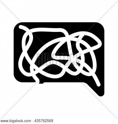 Confusing Dialogue Glyph Icon Vector. Confusing Dialogue Sign. Isolated Contour Symbol Black Illustr