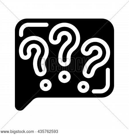 Question Speak Glyph Icon Vector. Question Speak Sign. Isolated Contour Symbol Black Illustration