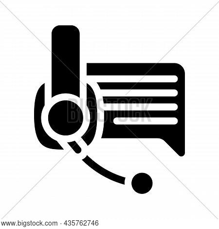 Online Support Advice Glyph Icon Vector. Online Support Advice Sign. Isolated Contour Symbol Black I