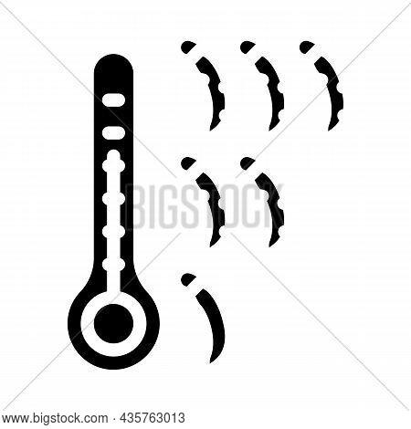 Chilli Pepper Scale Glyph Icon Vector. Chilli Pepper Scale Sign. Isolated Contour Symbol Black Illus