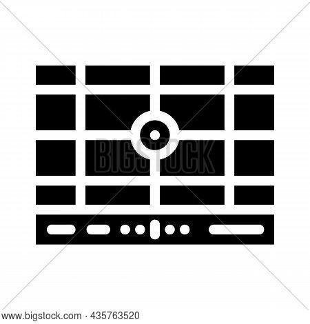 Dividing Grid Glyph Icon Vector. Dividing Grid Sign. Isolated Contour Symbol Black Illustration
