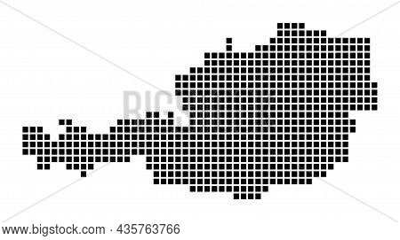 Austria Map. Map Of Austria In Dotted Style. Borders Of The Country Filled With Rectangles For Your