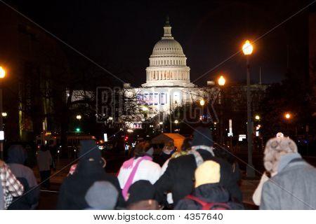Us Capitol At Inauguration