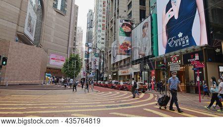 Causeway Bay, Hong Kong 18 April 2021: Hong Kong city