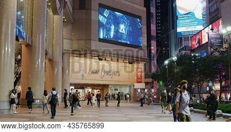Causeway Bay, Hong Kong 30 March 2021: Times square in Hong Kong at night