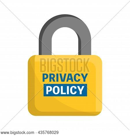 Security Cyber Digital Concept. Privacy Policy, Safety Lock And Data Protection Concept. Vector Illu