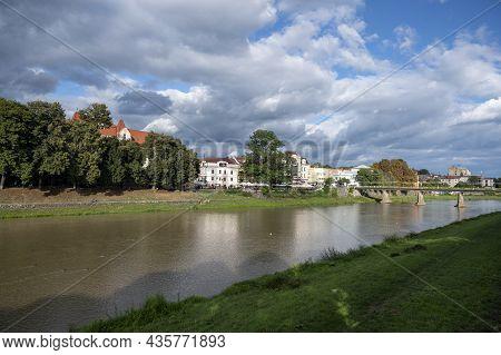 Uzhhorod, Ukraine- September 2, 2021: Streets And Architecture Of The Old City Of Uzhgorod In Ukrain