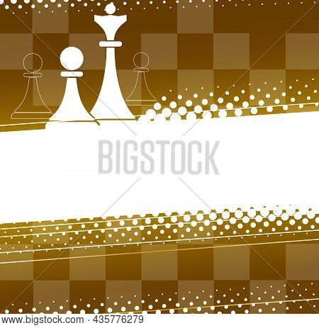 Abstract Chess Background. Design Element With Chess Pieces. Vector Illustration