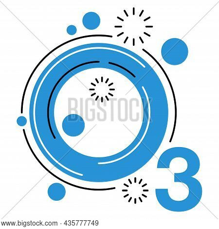 Ozone Flat Icon - Greenhouse Gas With O3 Chemical Formula, Ozone Sign Vector Graphics. Isolated Vect