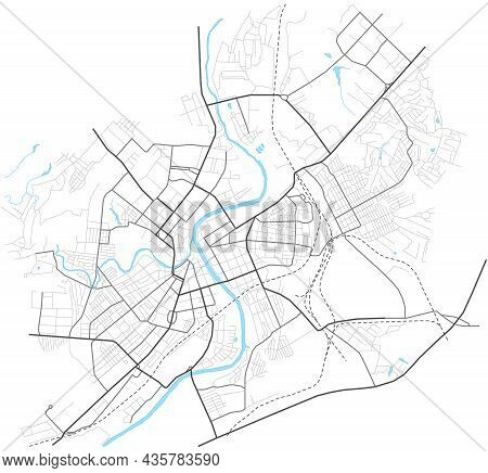 Orel City Map - Town Streets On The Plan. Map Of The Scheme Of Road. Urban Environment, Architectura