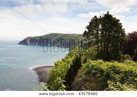 Lynmouth With Foreland Point  North Devon England