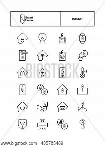 Smart System Icon. Wifi Distance Connection Security Home Protection Online Control Electricity Safe