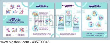 What Is Deportation Brochure Template. Types And Causes. Flyer, Booklet, Leaflet Print, Cover Design