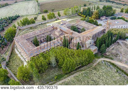 Aerial View Of Cloisters In The Abbey Royal Monastery Of Santa Maria De Veruela, Vera De Moncayo, Za