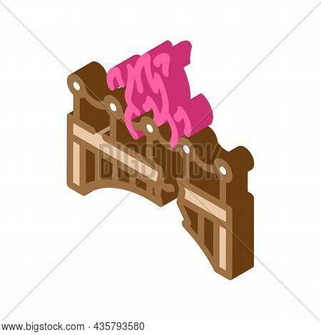 Burn Bridge And Divorce Isometric Icon Vector. Burn Bridge And Divorce Sign. Isolated Symbol Illustr