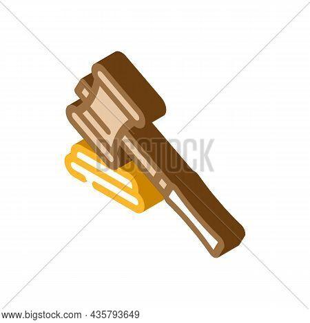Judge Trial Divorce Isometric Icon Vector. Judge Trial Divorce Sign. Isolated Symbol Illustration