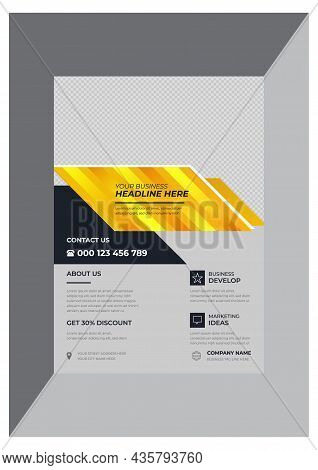 Stylish And Creative Corporate Business Flyer Design Template Vector