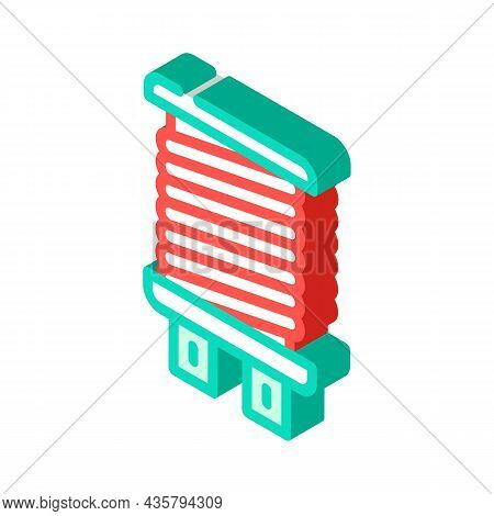 Coil Electromagnetic Isometric Icon Vector. Coil Electromagnetic Sign. Isolated Symbol Illustration