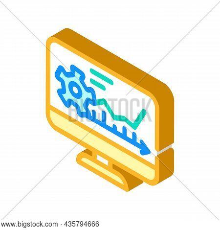 Software Erp Isometric Icon Vector. Software Erp Sign. Isolated Symbol Illustration