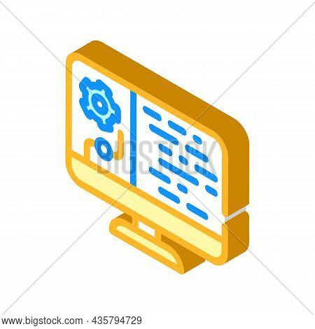 Data Processing Isometric Icon Vector. Data Processing Sign. Isolated Symbol Illustration