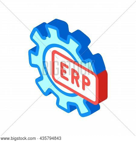 Erp Working Processing Isometric Icon Vector. Erp Working Processing Sign. Isolated Symbol Illustrat