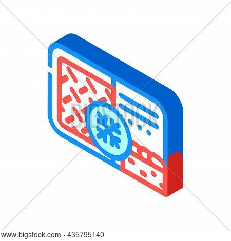 Meat Pie Frozen Dish Isometric Icon Vector. Meat Pie Frozen Dish Sign. Isolated Symbol Illustration