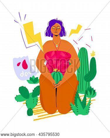 Menstrual Period - Colorful Flat Design Style Illustration