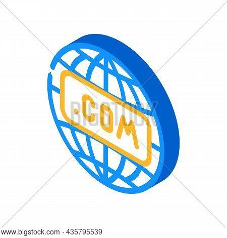 Internet Globalization Isometric Icon Vector. Internet Globalization Sign. Isolated Symbol Illustrat