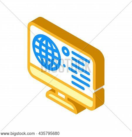 Internet Global Network Isometric Icon Vector. Internet Global Network Sign. Isolated Symbol Illustr