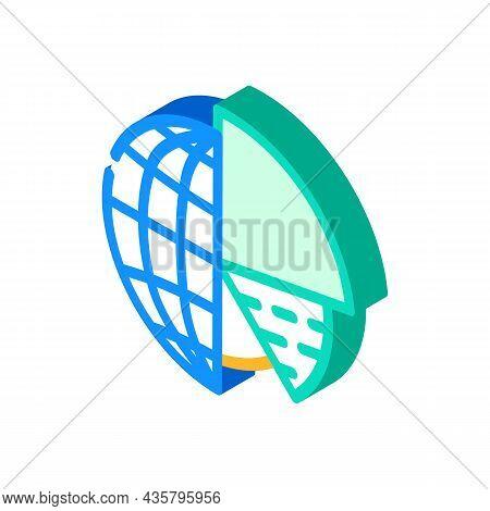 Analytics Globalization Isometric Icon Vector. Analytics Globalization Sign. Isolated Symbol Illustr
