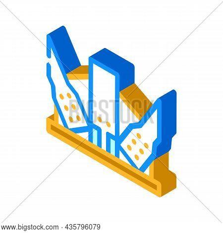Modern Metal Frame Building Isometric Icon Vector. Modern Metal Frame Building Sign. Isolated Symbol