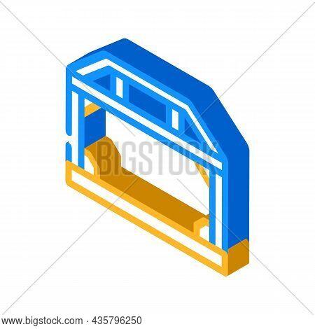 House Metallic Frame Construction Isometric Icon Vector. House Metallic Frame Construction Sign. Iso