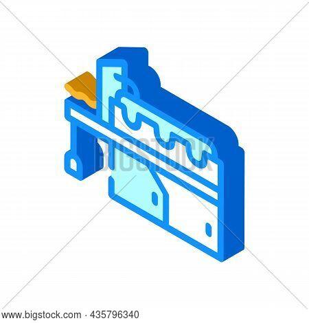 Metal Production Industry Equipment Isometric Icon Vector. Metal Production Industry Equipment Sign.