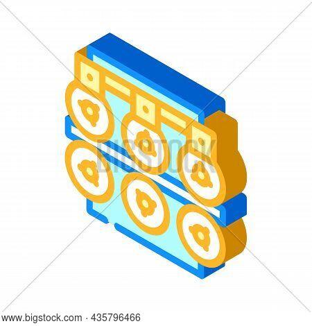 Metal List Production Industry Machine Isometric Icon Vector. Metal List Production Industry Machine