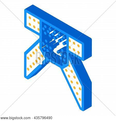 Metal Structure Construction Part Isometric Icon Vector. Metal Structure Construction Part Sign. Iso